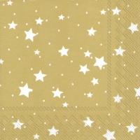 Napkins 25x25 cm - STELLA DI NATALE gold