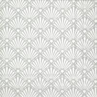 Serviettes 25x25 cm - ROCAILLE white silver