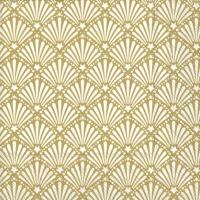 Serviettes 25x25 cm - ROCAILLE white gold