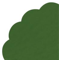 Servilletas - Redondas - UNI smaragd