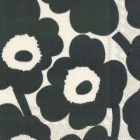 Napkins 33x33 cm - UNIKKO cream green