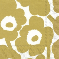 Serviettes 33x33 cm - UNIKKO white gold