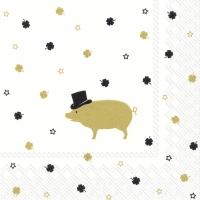 Servilletas 33x33 cm - MR PIG gold