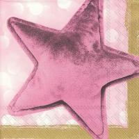 Napkins 33x33 cm - VELVET STAR gold