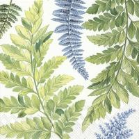 Napkins 33x33 cm - ARWEA white blue