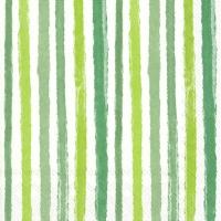 Napkins 33x33 cm - COLOURFUL STRIPES green