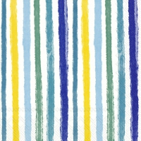 Napkins 33x33 cm - COLOURFUL STRIPES blue yellow