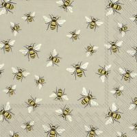 Napkins 33x33 cm - LOVELY BEES linen