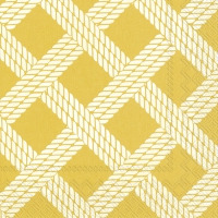Napkins 33x33 cm - SAILORS ROPE yellow