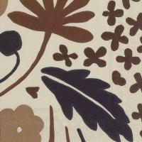 Serviettes 33x33 cm - SUVI brown
