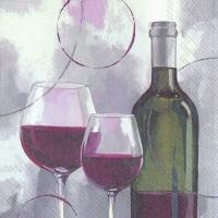 Napkins 33x33 cm - MODERN RED WINE