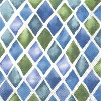 Napkins 33x33 cm - LOANA blue