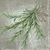 Napkins 33x33 cm - HERBAL FLAVOUR ROSEMARY