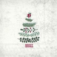 Napkins 33x33 cm - NATURAL CHRISTMAS TREE