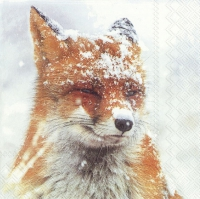 Serviettes 33x33 cm - WINTER FOX