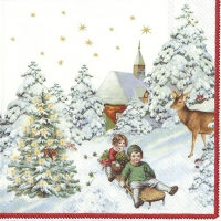 Servilletas 33x33 cm - ANNUAL CHRISTMAS SNOW V&B