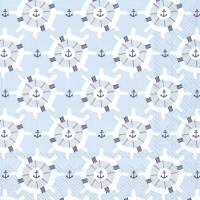 Tovaglioli 33x33 cm - BOAT TRIP light blue