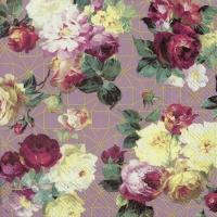 Serviettes 33x33 cm - VINTAGE ROSE rose gold