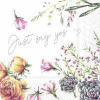 Napkins 33x33 cm - JUST SAY YES