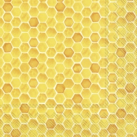 Napkins 33x33 cm - BEE INSPIRED yellow