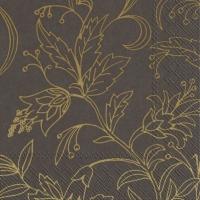 Servilletas 33x33 cm - GOLDEN FLOWER brown