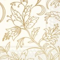 Servilletas 33x33 cm - GOLDEN FLOWER cream gold