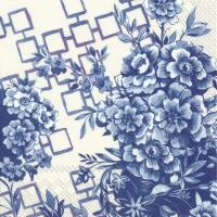 Servietten 33x33 cm - CATRINA cream blue