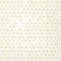 Napkins 33x33 cm - CRYSTAL ORNAMENTS white gold