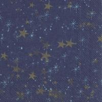 Napkins 33x33 cm - STERNENHIMMEL dark blue