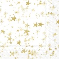 Napkins 33x33 cm - STERNENHIMMEL white gold