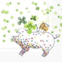 Napkins 33x33 cm - LUCKY PIG