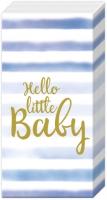 Handkerchiefs - HELLO LITTLE BABY light blue