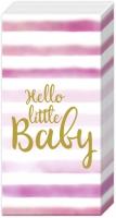 Handkerchiefs - HELLO LITTLE BABY light rose