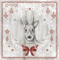 Napkins 33x33 cm - Shabby Wood Painted Deer
