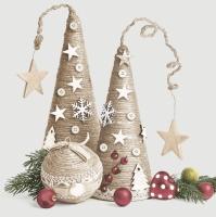 Serviettes 33x33 cm - Eco Christmas Decorations