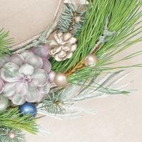 Servilletas 33x33 cm - Succulent Wreath on Linen