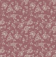 Napkins 33x33 cm - Little Roses Marsala