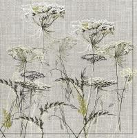 Servietten 33x33 cm - Achillea Sketch on a Linen Background