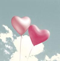 Servilletas 33x33 cm - Balloon Hearts