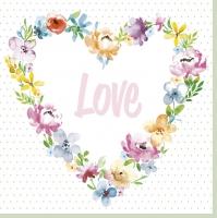 Serviettes 33x33 cm - Blossom Love