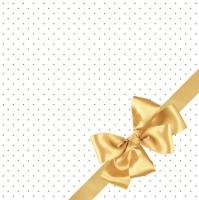Serviettes 33x33 cm - Golden Bow Elegance