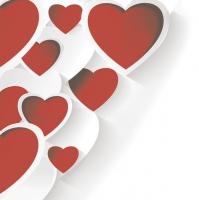 Serviettes 33x33 cm - Creative 3D Hearts