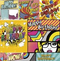 Serviettes 33x33 cm - Cartoon Style Birthday