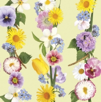 Napkins 33x33 cm - Spring Flowers Garland