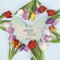 Napkins 33x33 cm - Hello Spring Tulips