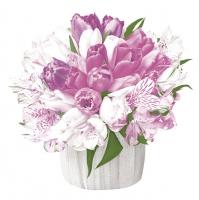 Napkins 33x33 cm - Pastel Bouquet