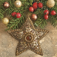 Serwetki 33x33 cm - Baroque Star and Holly Berries