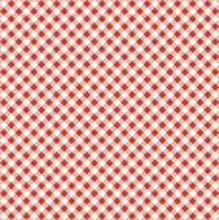 Servietten 33x33 cm - Diagonal Red Check