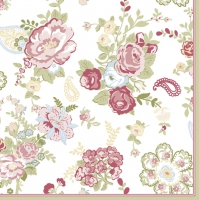 Napkins 33x33 cm - Wallpaper with Roses White