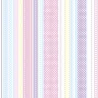 Napkins 33x33 cm - Pastel Stripes and Dots